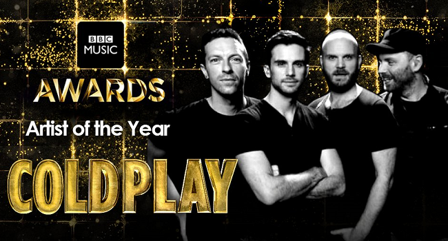 Coldplay คว้ารางวัล Artist of the Year บนเวที BBC Music Awards