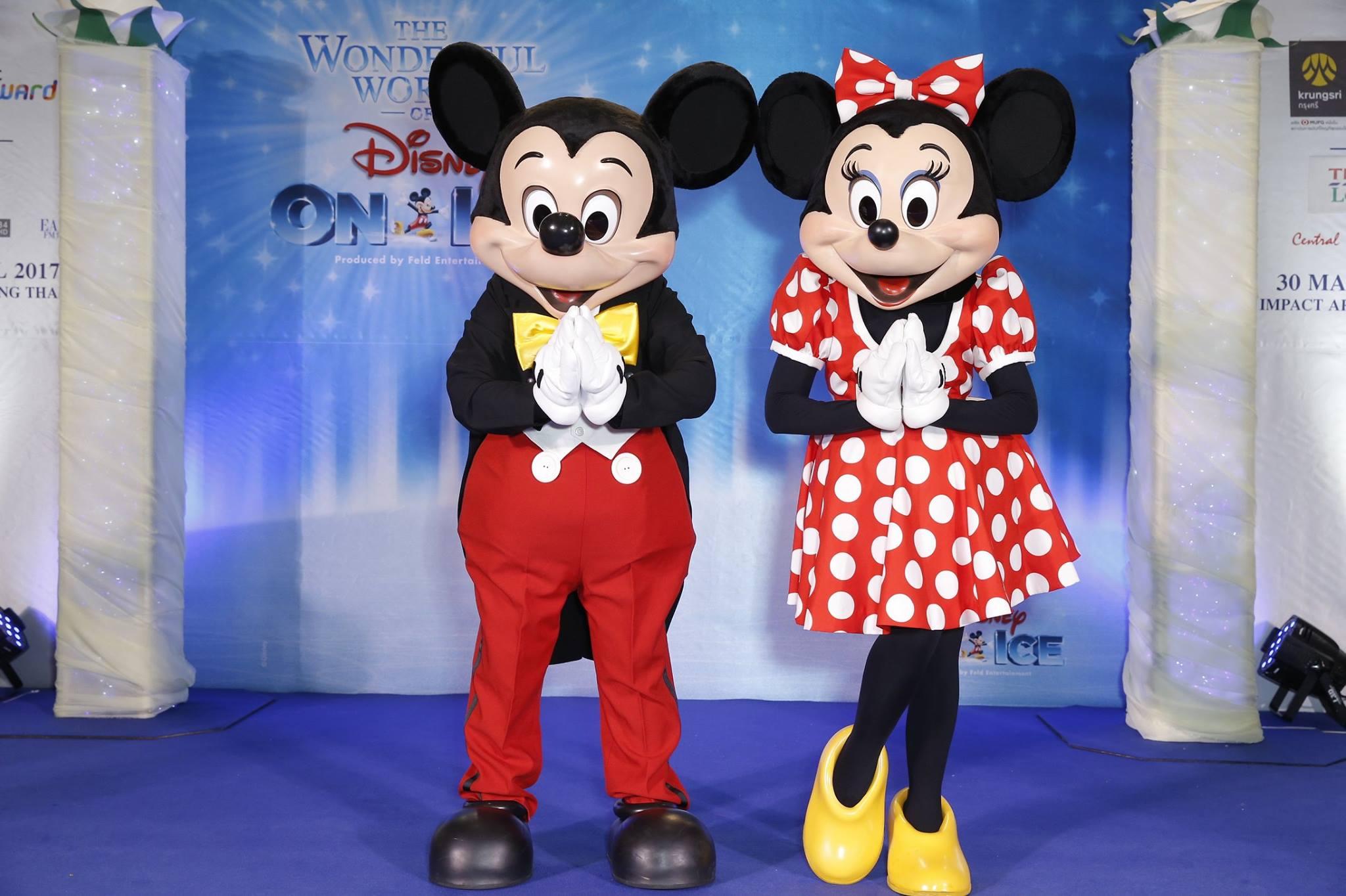 มิกกี้เมาส์ มินนี่เมาส์ ร่วมแถลงข่าว Disney On Ice