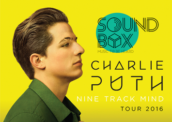 Hit singer CHARLIE PUTH heading to Thailand  for 12 August show with opening acts, Room39 and OZMO  as part of SOUNDBOX live music series
