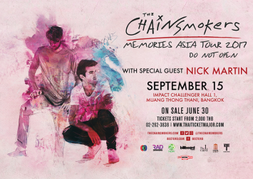 The world's hottest duo The Chainsmokers  to perform in Bangkok