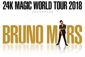 GRAMMY AWARD WINNER AND MULTI-PLATINUM SELLING SUPERSTAR BRUNO MARS BRINGING THE 24K MAGIC WORLD TOUR TO BANGKOK ON APRIL 30, 2018