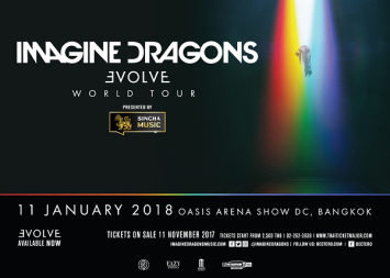 Singha Music brings Imagine Dragons back to Bangkok as part of their Evolve World Tour