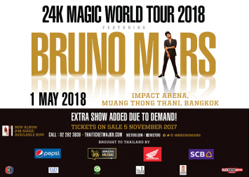 Overwhelming demand for Bruno Mars concert  leads to second Bangkok show