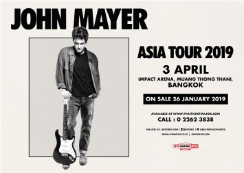 JOHN MAYER TO PERFORM FOR THE FIRST TIME IN THAILAND AS PART OF HIS WORLD TOUR 2019