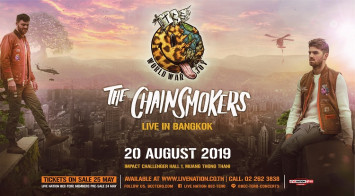 THE CHAINSMOKERS RETURN TO BANGKOK FOR WORLD WAR JOY ASIA TOUR