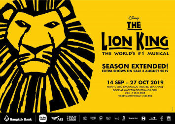 Additional Bangkok performances of the world's #1 musical, THE LION KING, just announced! New Seats on sale 3 August.