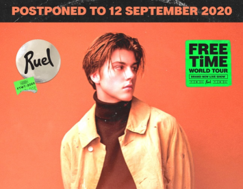 Ruel Free Time World Tour Live in Bangkok 2020 Postponed to 12 September 2020