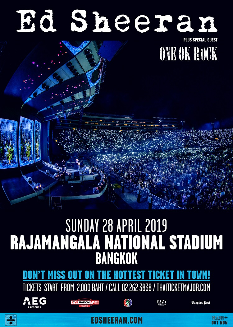 Ed Sheeran's 2019 Asia tour support act announced as ONE OK ROCK